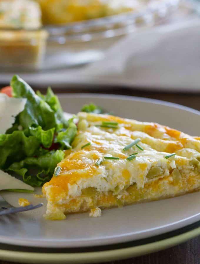Green Chile Tortilla Pie