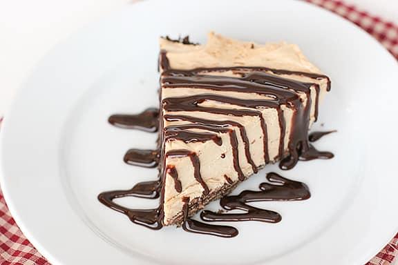 Frozen Peanut Butter Pie with Cookie Crust