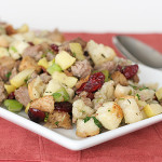 Sausage, Apple and Cranberry Dressing | www.tasteandtellblog.com