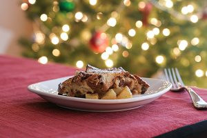 Apple Raisin French Toast Casserole | www.tasteandtellblog.com