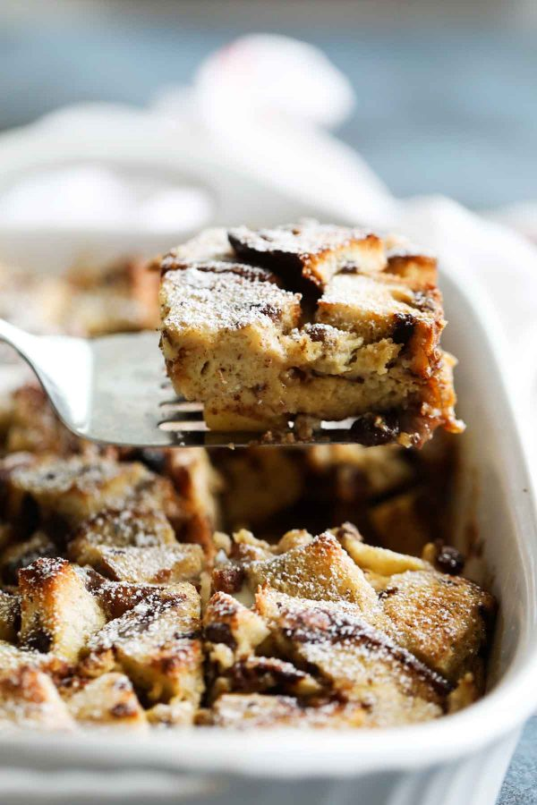 Slice of Make Ahead French Toast Casserole