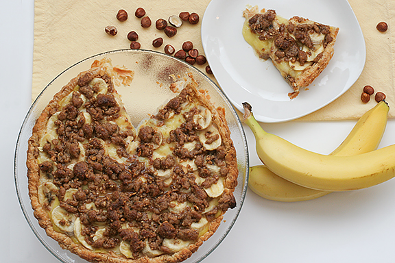 Banana and Hazelnut Tart | www.tasteandtellblog.com