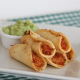 Chicken, Bacon and Cream Cheese Mini Taquitos | www.tasteandtellblog.com