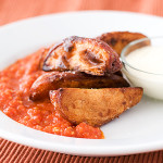 Crisp Potatoes with Spicy Tomato Sauce | www.tasteandtellblog.com