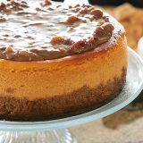 Larger-Than-Life Praline Cheesecake | www.tasteandtellblog.com