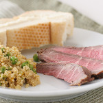 Marinated Flank Steak and Quinoa with Peas and Scallions | www.tasteandtellblog.com