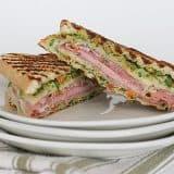 Muffuletta Style Grilled Ham and Cheese Sandwiches | www.tasteandtellblog.com
