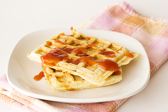 Sausage, Potato and Cheese Waffles | www.tasteandtellblog.com