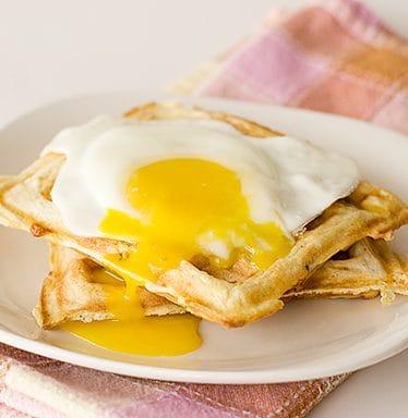 Sausage, Potato and Cheese Waffles | www.tasteandtellblog.com
