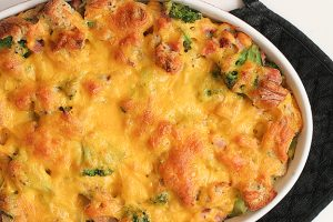 Broccoli, Cheddar and Ham Strata | www.tasteandtellblog.com