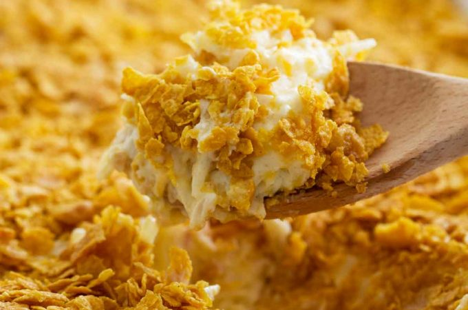 A popular Utah casserole, these Funeral Potatoes are good for more than just funerals! This classic potato casserole is comforting and crowd-pleasing.