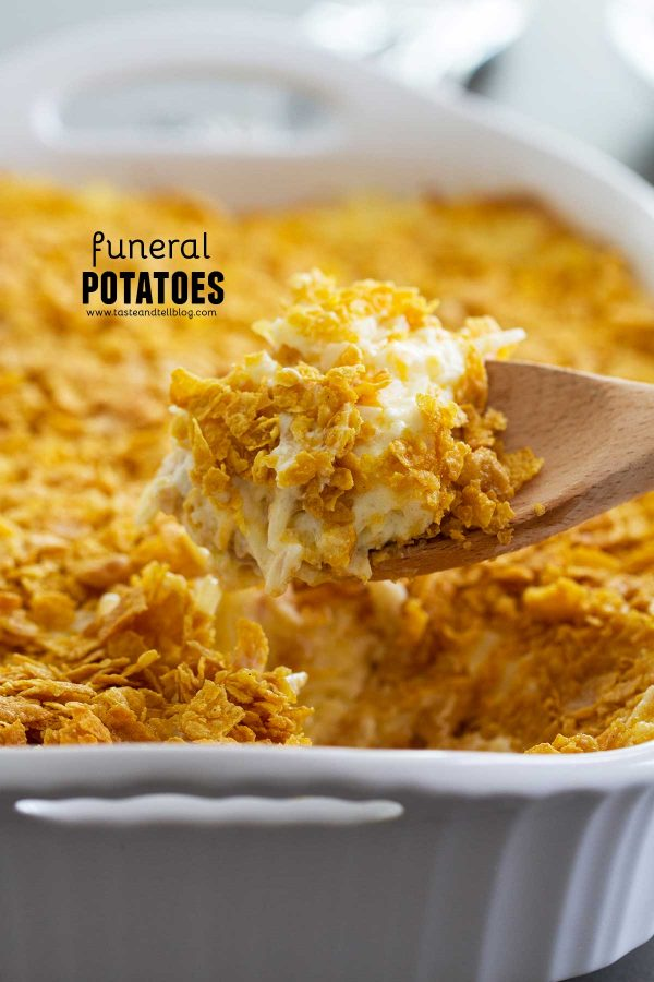 Holiday side dish Funeral Potatoes