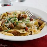 Pasta-with-Sausage-Artichokes-Sun-Dried-Tomatoes-recipe-taste-and-tell-1