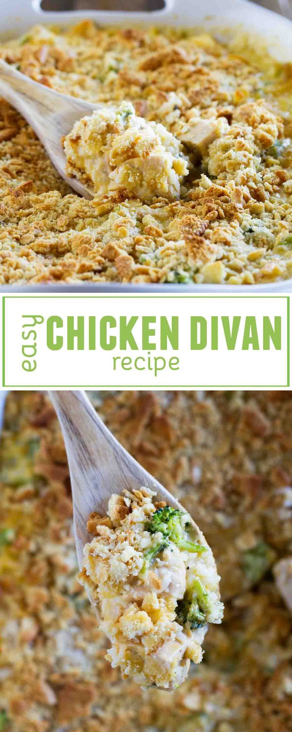Chicken, broccoli, rice and cheese combine for this comforting classic - this Easy Chicken Divan Recipe is a dinner that the whole family will love.