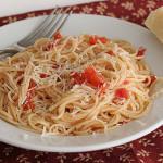 Garlic Spaghetti | www.tasteandtellblog.com