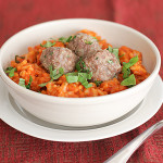 Saturdays with Rachael Ray – Mini Meatball Risotto