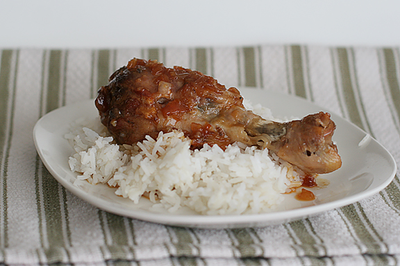 Peach-Ginger Chicken | www.tasteandtellblog.com