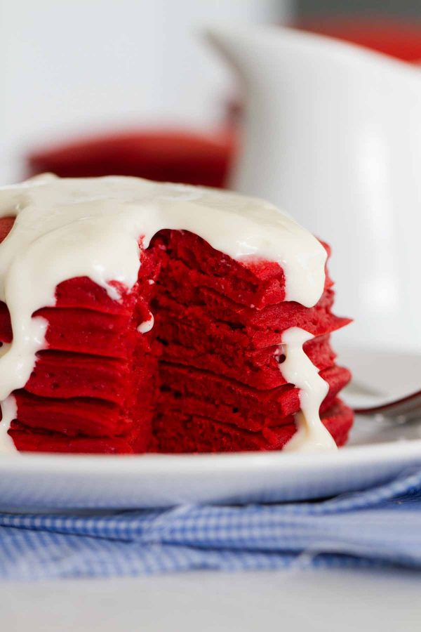 Inside of Red Velvet Pancakes