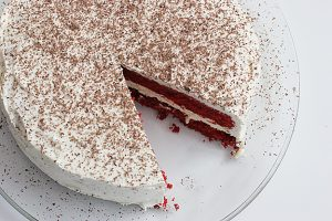 Red Velvet Cheesecake Cake | www.tasteandtellblog.com