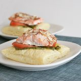 Salmon with Puff Pastry and Pesto | www.tasteandtellblog.com