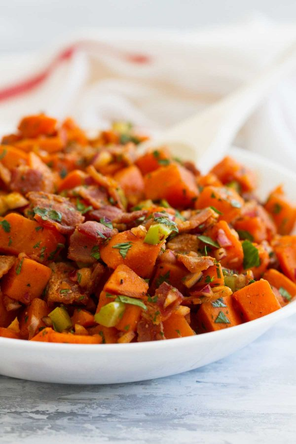 Recipe for Sweet Potato Salad with Bacon