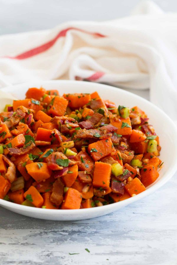 How to make Sweet Potato Salad with Bacon