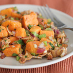 Sweet Potato Salad with Bacon | www.tasteandtellblog.com