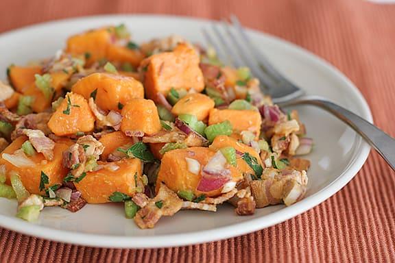 Sweet Potato Salad with Bacon   www.tasteandtellblog.com
