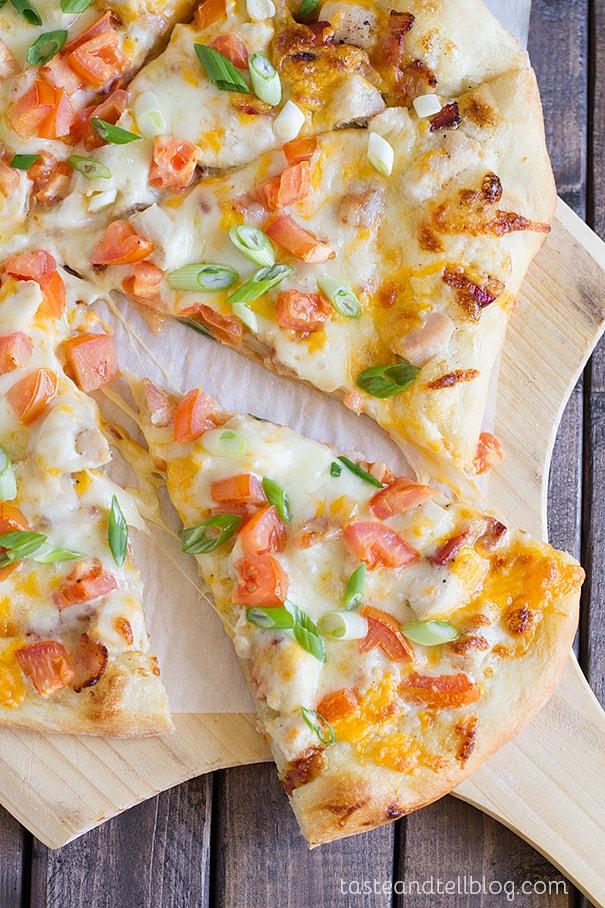 Chicken Bacon Ranch Pizza recipe