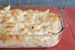 Chicken Cordon Bleu Pasta   www.tasteandtellblog.com