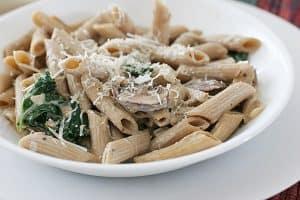 Creamy Mushroom Lovers Pasta | www.tasteandtellblog.com