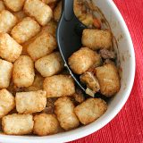 Potato-Tot Topped Shepherd's Pie | www.tasteandtellblog.com
