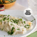 White Chicken Enchiladas on Taste and Tell