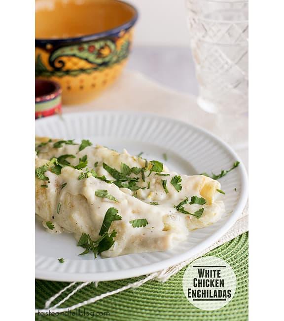 White Chicken Enchiladas | www.tasteandtellblog.com #recipe #chicken