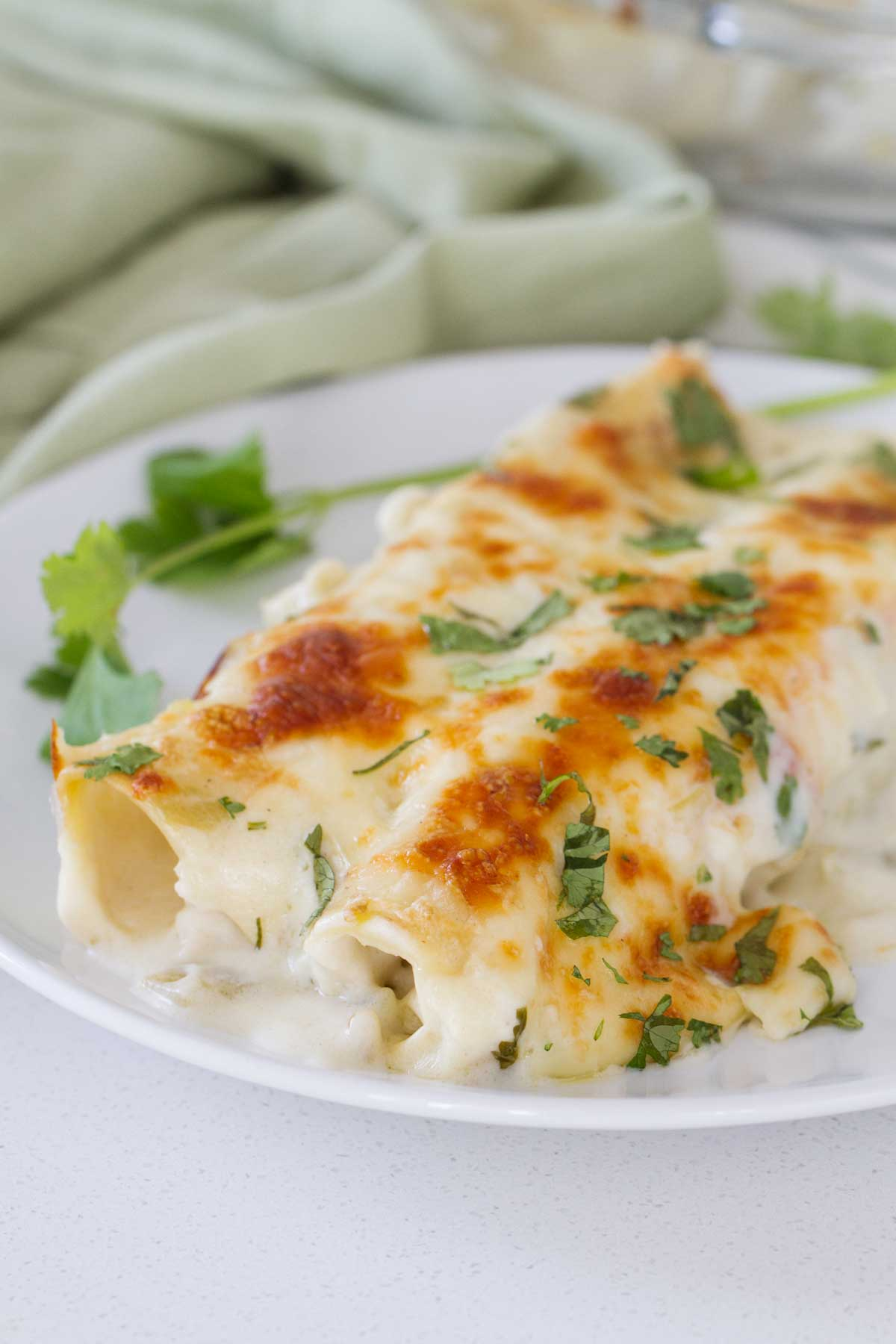 White Chicken Enchiladas Taste And Tell