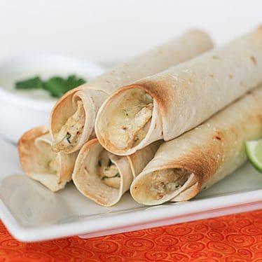 Baked Creamy Chicken Taquitos | www.tasteandtellblog.com