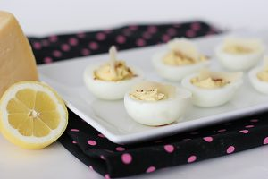 Cesar Deviled Eggs on Taste and Tell