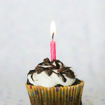 Chocolate Amaretto Cupcakes for my 4th Blog Birthday! {and a giveaway!}
