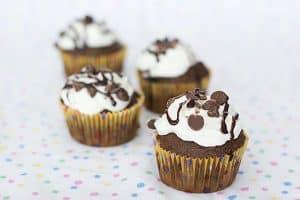 Chocolate Amaretto Cupcakes   www.tasteandtellblog.com