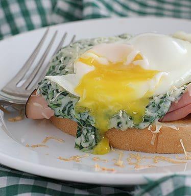 Creamed Spinach Croques Monsieurs | www.tasteandtellblog.com