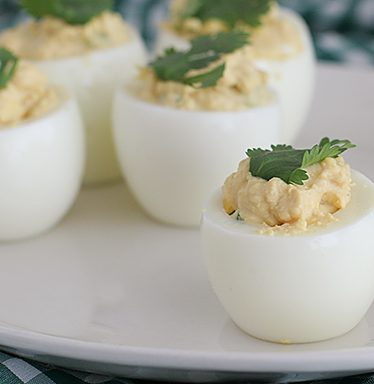 Far East Deviled Eggs on Taste and Tell