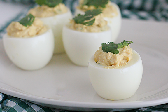 Far East Deviled Eggs | www.tasteandtellblog.com