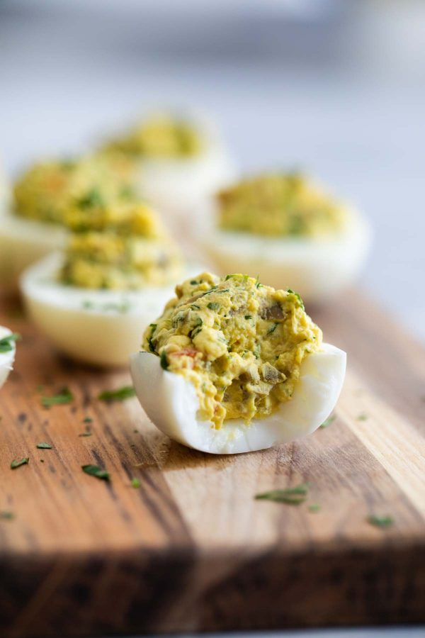 Filling for Green Olive Deviled Eggs