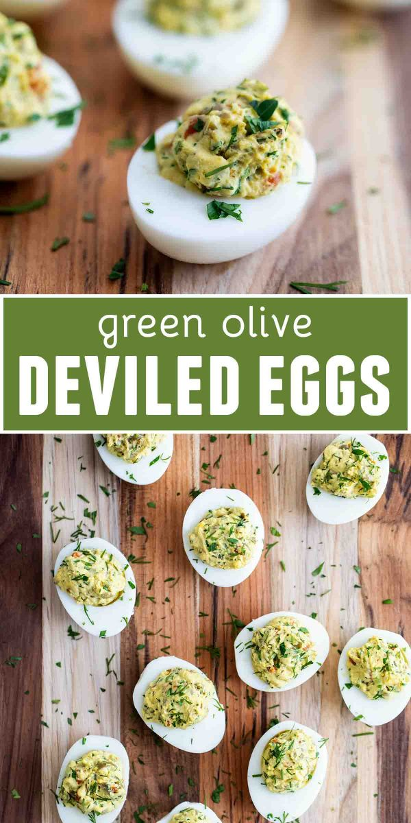 Green Olive Deviled Eggs