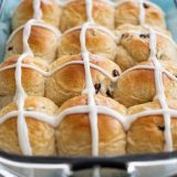 Pan of Hot Cross Buns