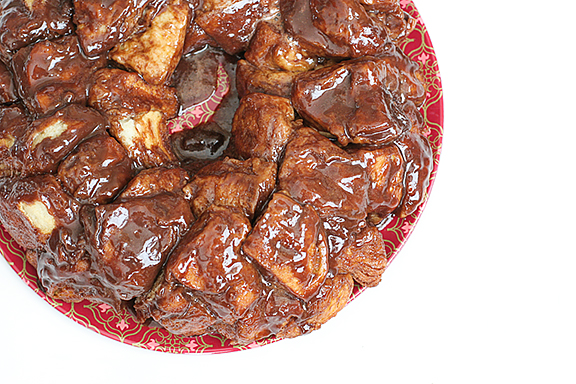 Hot Fudge Marshmallow Monkey Bread