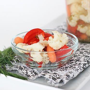 Pickled Vegetalbes | www.tasteandtellblog.com