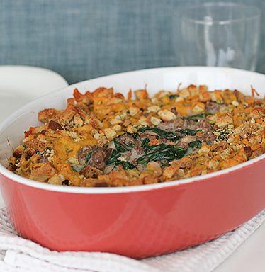 Sausage, Beef and Bean Casserole | www.tasteandtellblog.com