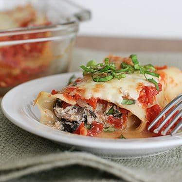 Spinach Mushroom Cannelloni | www.tasteandtellblog.com