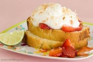 Strawberry-Lime Shortcakes with Coconut Cream | www.tasteandtellblog.com
